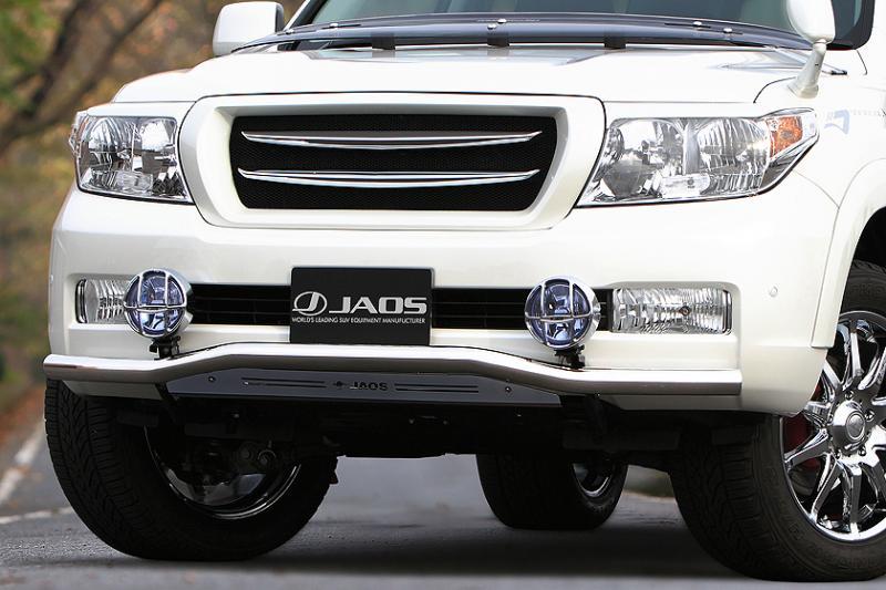 JAOS ジャオス フロントスキッドバー (ポリッシュ/ブラック) ランドクルーザー 200系 【B150048B】 07.09-11.12