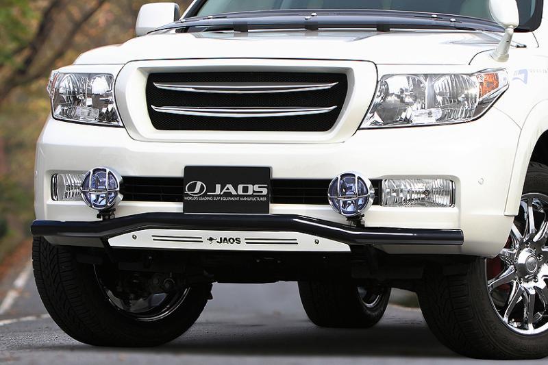 JAOS ジャオス フロントスキッドバー (ブラック/ブラスト) ランドクルーザー 200系 【B150048C】 07.09-11.12