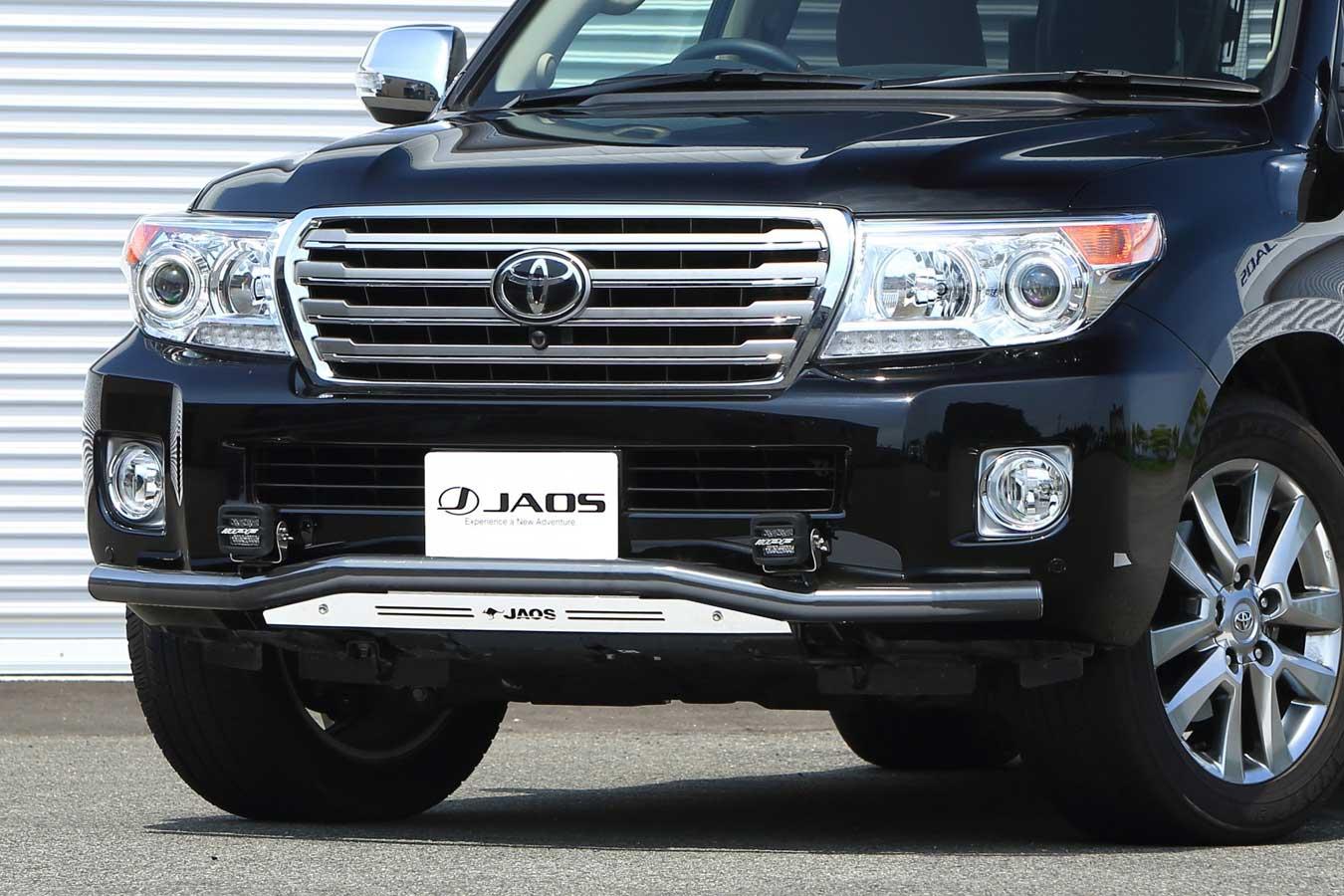 JAOS フロントスキッドバー ブラック/ブラスト ランドクルーザー200系 12-15【B150049C】