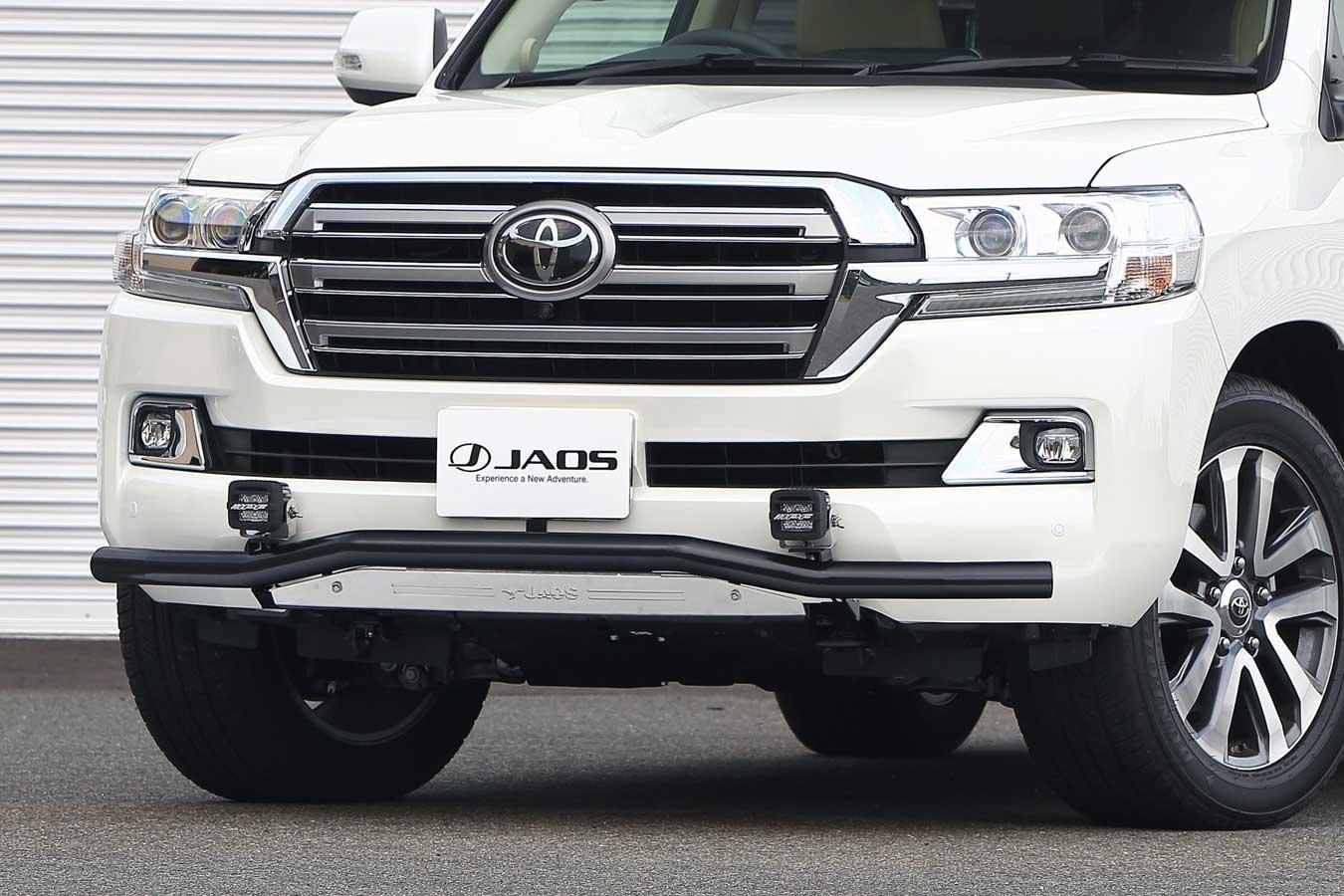 JAOS フロントスキッドバー ブラック/ブラスト ランドクルーザー200系 15+【B150050C】