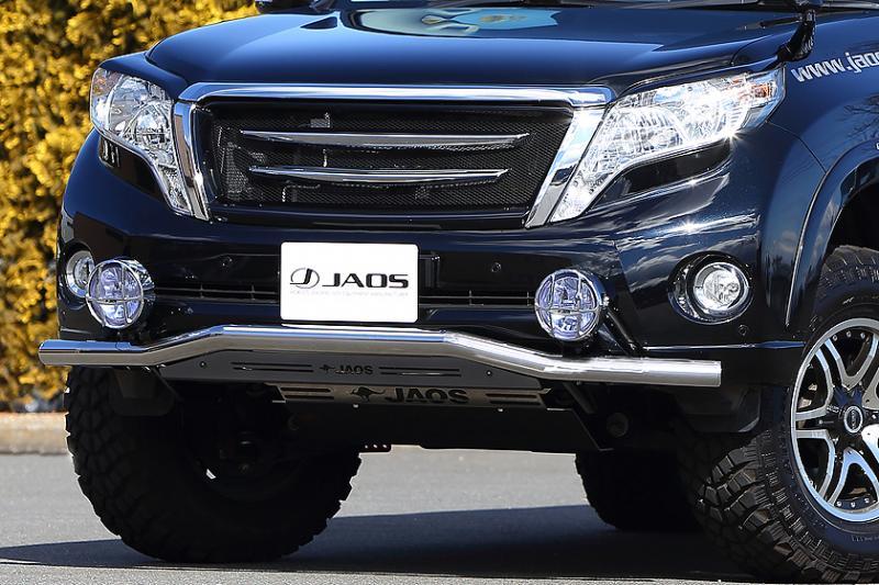 JAOS ジャオス フロントスキッドバー (ポリッシュ/ブラック) プラド 150系 【B150066B】 13.10-