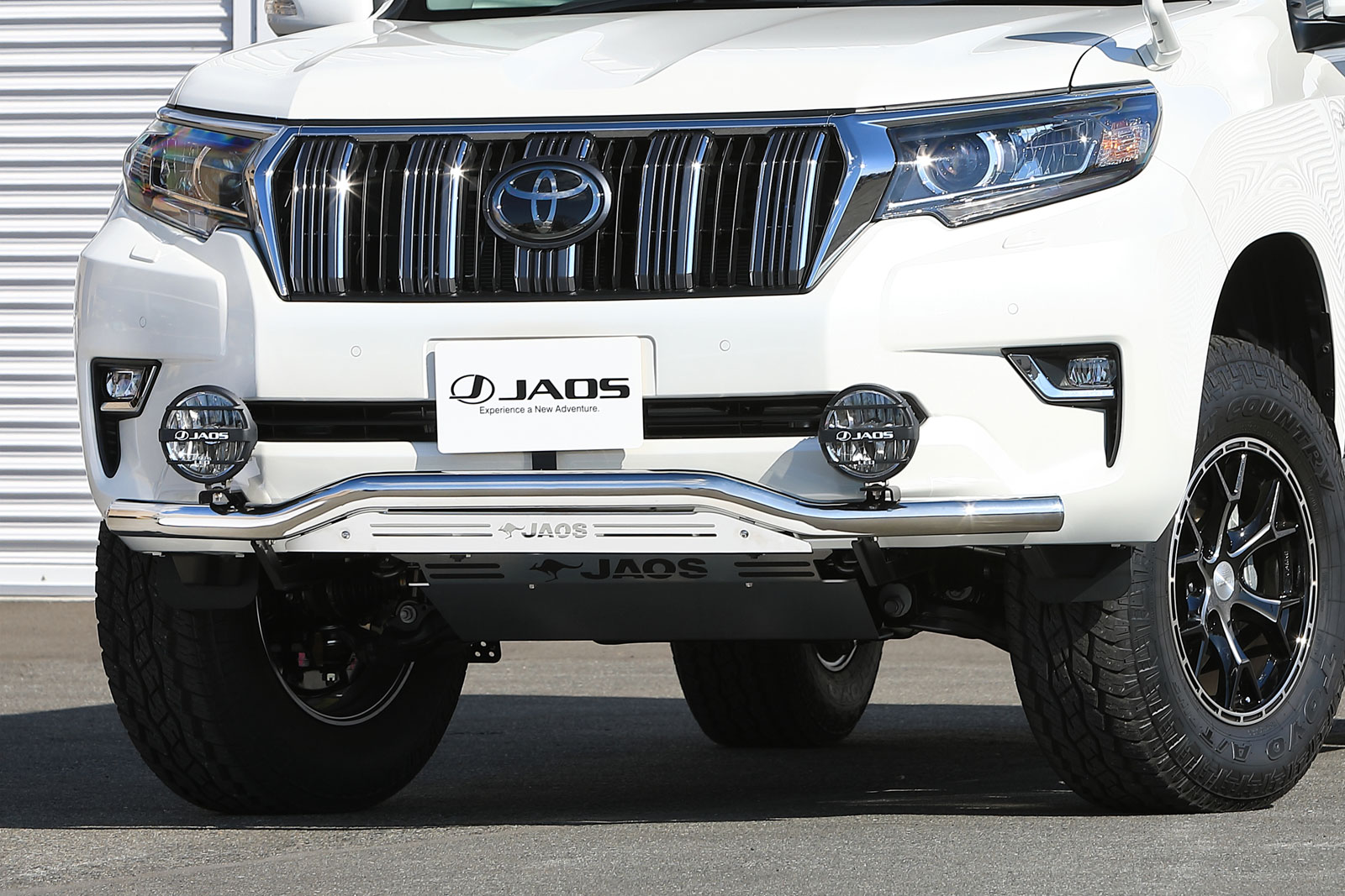 JAOS ジャオス フロントスキッドバー ポリッシュ/ブラスト トヨタ プラド 150系 17/09- 適応:ALL【B150067A】