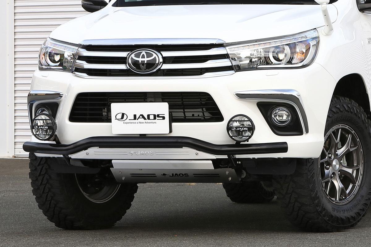 JAOS ジャオス フロントスキッドバー ブラック/ブラスト トヨタ ハイラックス 17/09- 適応:ALL【B150096C】