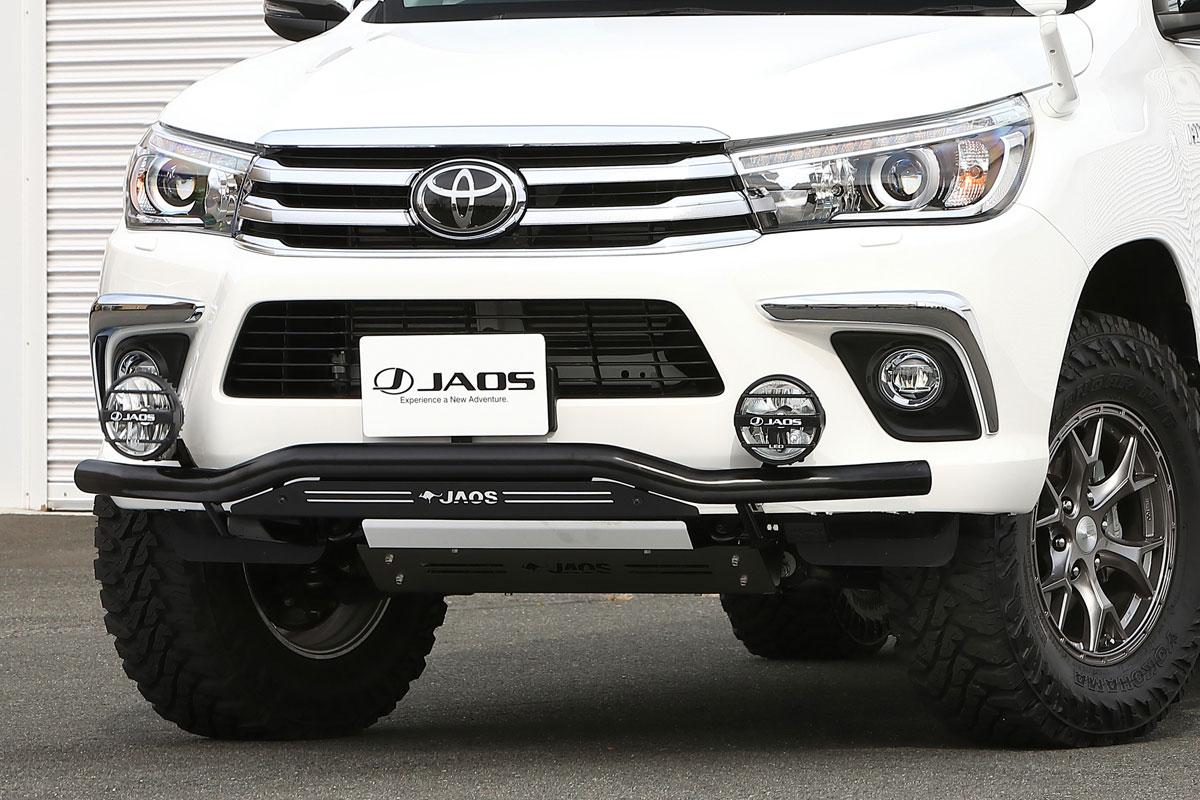 JAOS ジャオス フロントスキッドバー ブラック/ブラック トヨタ ハイラックス 17/09- 適応:ALL【B150096D】