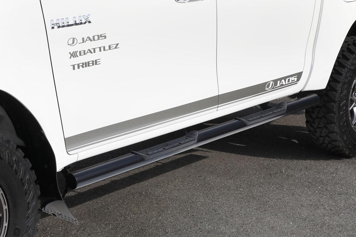 JAOS ジャオス サイドステップ ブラック TOYOTA トヨタ ハイラックス 17/09-【B172096BK】