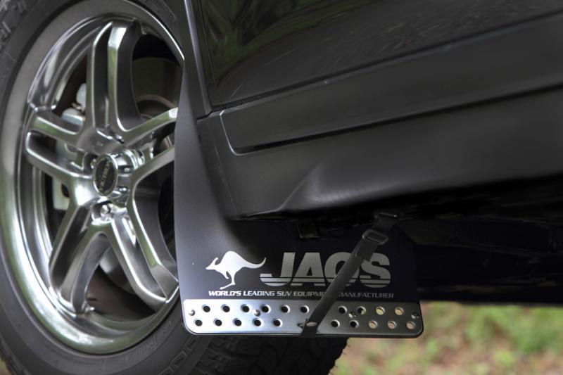 JAOS ジャオス マッドガード3 フロントセット 〔B622444F〕 ブラック エクストレイル 32系 -