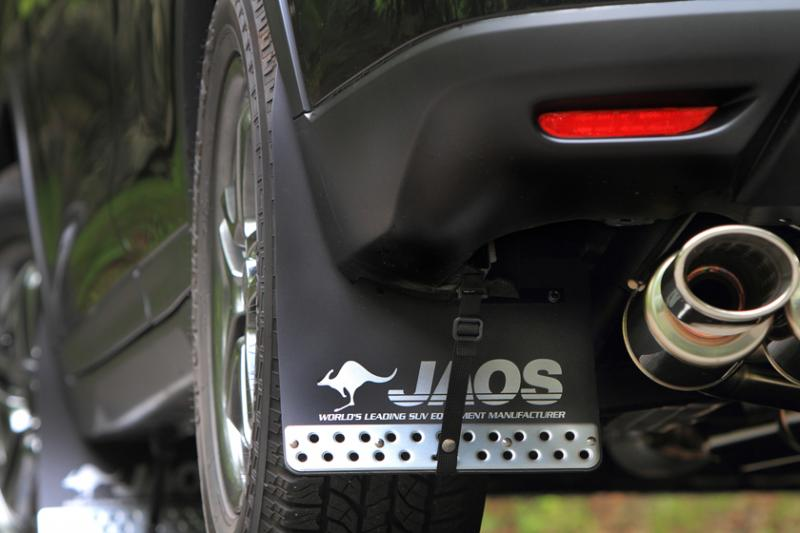 JAOS ジャオス マッドガード3 リヤセット 〔B622444R〕 ブラック エクストレイル 32系