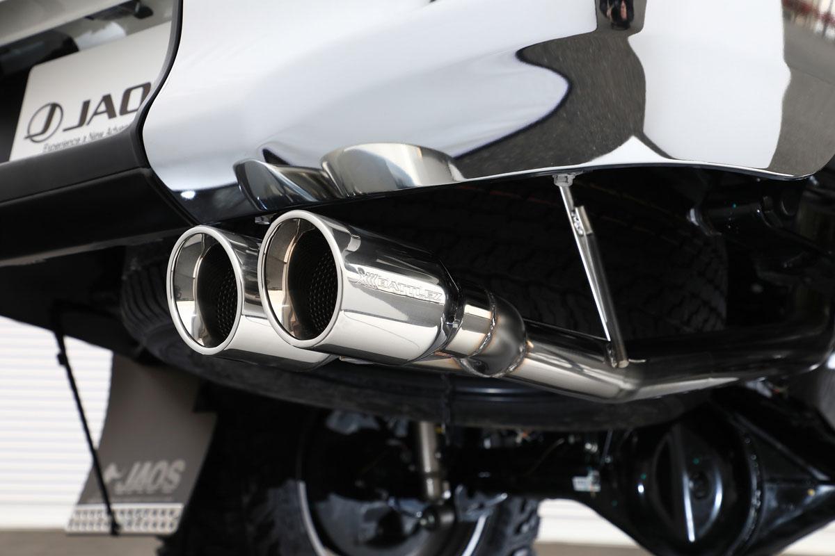 JAOS ジャオス BATTLEZ マフラー ZS-2 2本出しサークル トヨタ ハイラックス 17/09-【B701096】