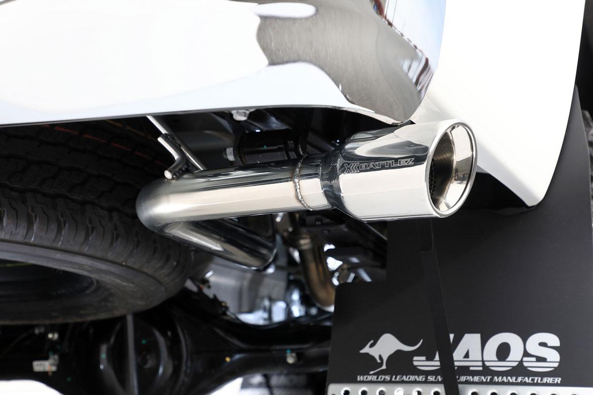 JAOS ジャオス BATTLEZ マフラー ZS-S サークル トヨタ ハイラックス 17/09-【B708096】