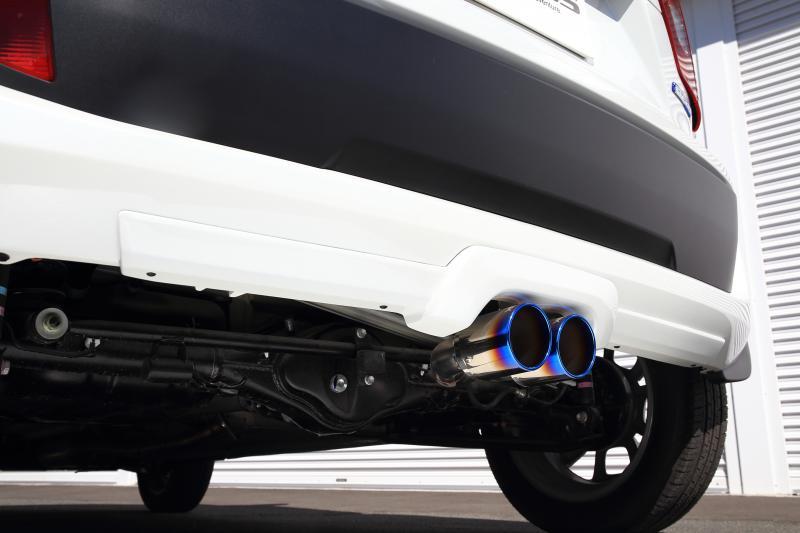 ジャオス JAOS BATTLEZxEX マフラー typeZS-C Ti イグニス 16.02- 4WD【B717545T】ガーニッシュ:未塗装/白ゲルコート