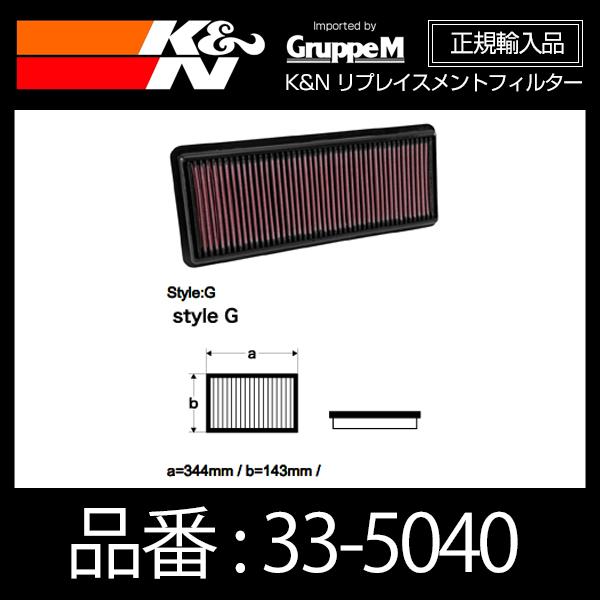 K&N リプレイスメントフィルター MAZDA ロードスター(ND5RC) 1.5L F/I 用【33-5040】