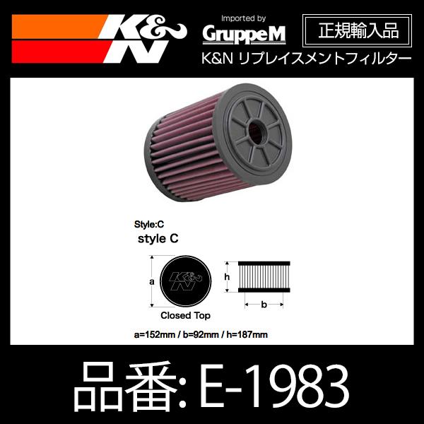 K&N リプレイスメントフィルター AUDI A6(C7) 2.8FSI、A6(C7)/A7 3.0TFSI、S6(C7)/S7 4.0TURBO用【E-1983】