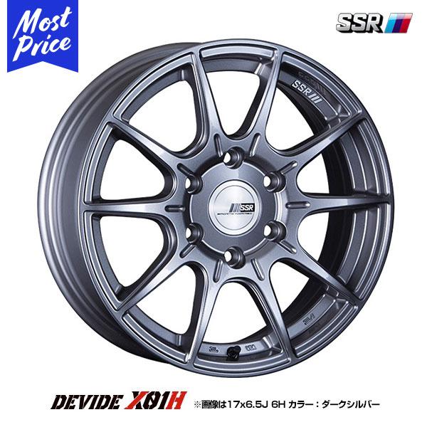 SSR ディバイド DEVIDE X01H エックスゼロワンエイチ 17インチ 6.5J 38 6-139.7 ホイール 1本