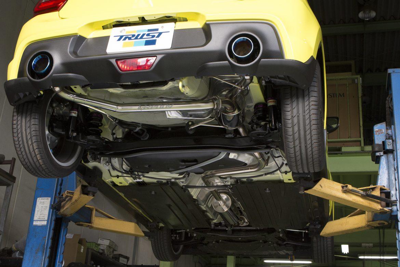 TRUST トラスト GReddy グレッディ コンフォートスポーツ GT-Sマフラー センターパイプ付き SUZUKI スズキ スイフトスポーツ CBA-ZC33S K14C 17/09-【10190717】