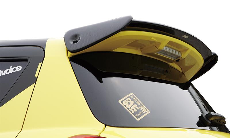 トラスト TRUST エアロキット リアウィングスポイラー カーボン スイフトスポーツ / スイフトRF ZC32S / ZC72S / ZD72S 【17091021】 | GReddy グレッディ リアウイング リヤウイング ルーフエンドスポイラー リアハッチスポイラー リアスポイラー ウエットカーボン スズキ