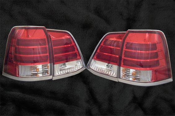 TT4(タケトシ) Land Crusier 200(ランドクルーザー200) URJ202W, UZJ200W テールランプ レクサスルック(4pcs)
