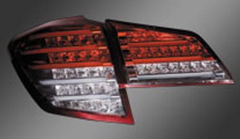 Valenti ヴァレンティ ジュエル LED テールランプ ハーフレッド/クローム レガシィツーリングワゴン/アウトバック BR#用 H21.5~ 【TSBRLEG-HC-1】