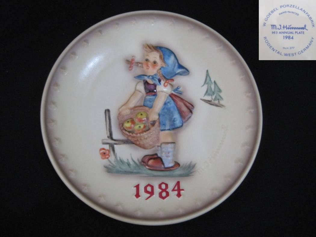 【Hummel】 フンメルのイヤープレート 1984 Little Helper 【箱あり】