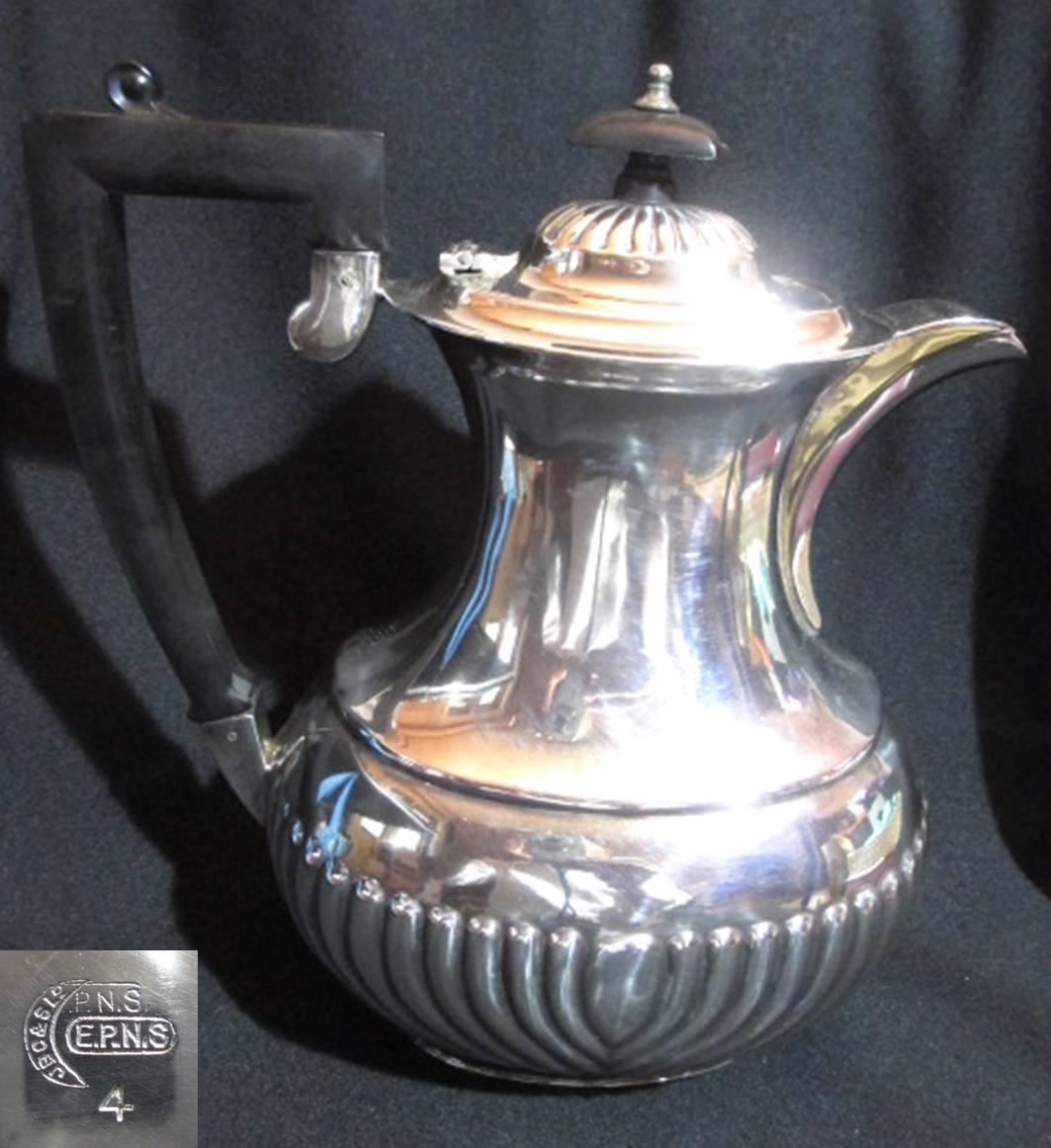 【アンティーク】 シルバープレートのコーヒーポット