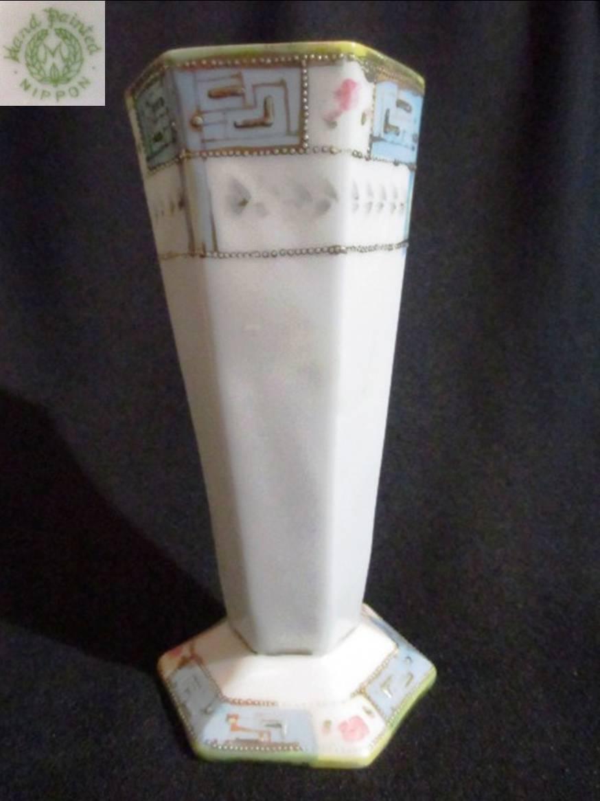 【明治アンティーク】 オールドノリタケ一輪挿しの花瓶