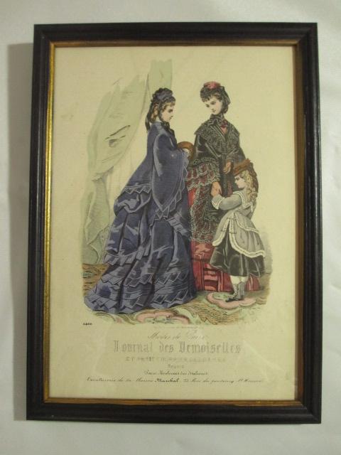 【19世紀仏国アンティーク】19世紀ファッションのスタイル画