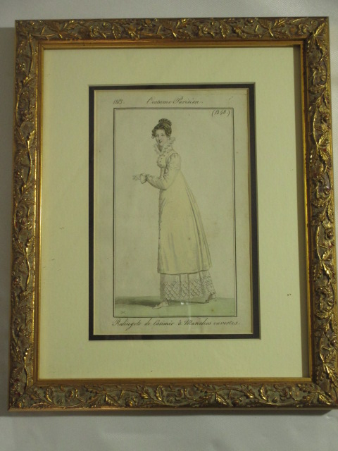 【19世紀仏国アンティーク】19世紀初頭のパリファッションのスタイル画