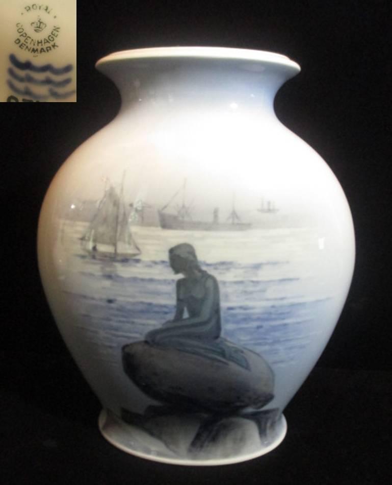 【アンティーク】ロイヤルコペンハーゲン人魚の花瓶 【Langelinie】