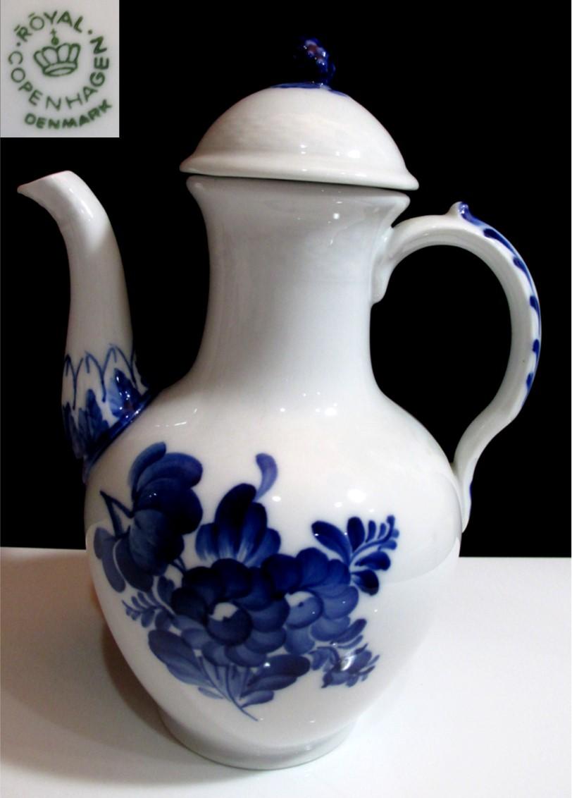 ロイヤルコペンハーゲンコーヒーポット【Blue Flower】