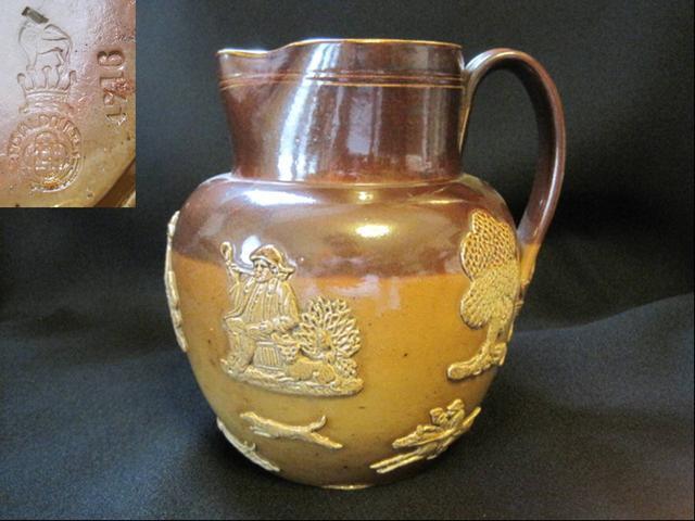 【アンティーク】Royal Doulton 陶器製ピッチャー