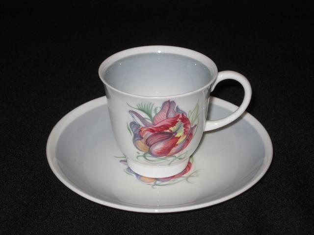 【アンティーク】スージー・クーパーパロットチューリップ デミタスカップ&ソーサー【Parrot Tulip】