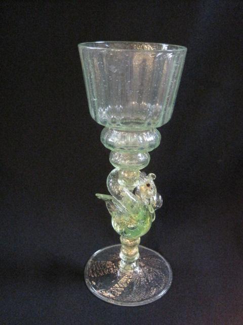 【ヴェネチアン・アンティーク ウランガラス】 ヴェネチアガラスのワイングラス