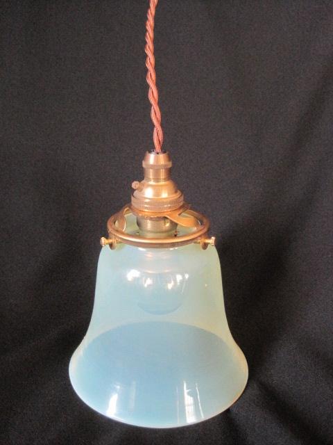 【ウランガラス】 スリガラスの吊り下げランプ