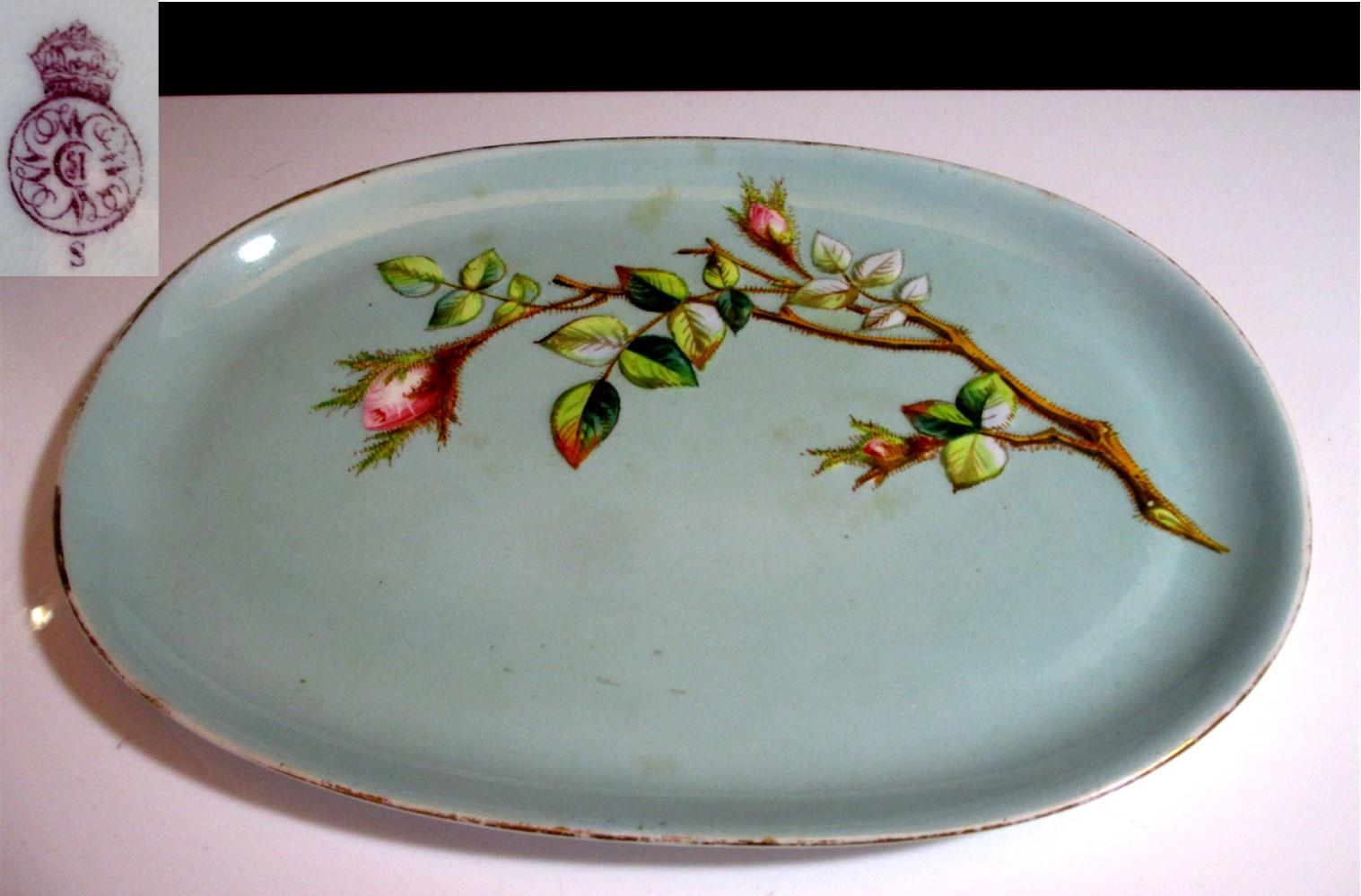 【19世紀ヴィクトリアンアンティーク】ロイヤル・ウースター野ばらレリーフの絵皿