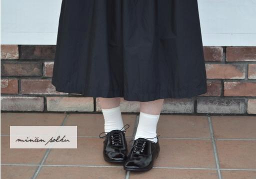 minan polku(ミナンポルク)レースアップ エナメルシューズ soft balmoral shoes enamel M329E