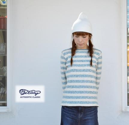 Tieasy(ティージー)ティージーオーセンティッククラシック オーガニック ボーダー ボートネックバスクシャツ te002bd