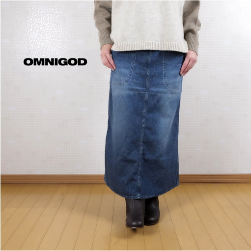 OMNIGOD(オムニゴッド)11OZデニム ランチスカート 57-156D