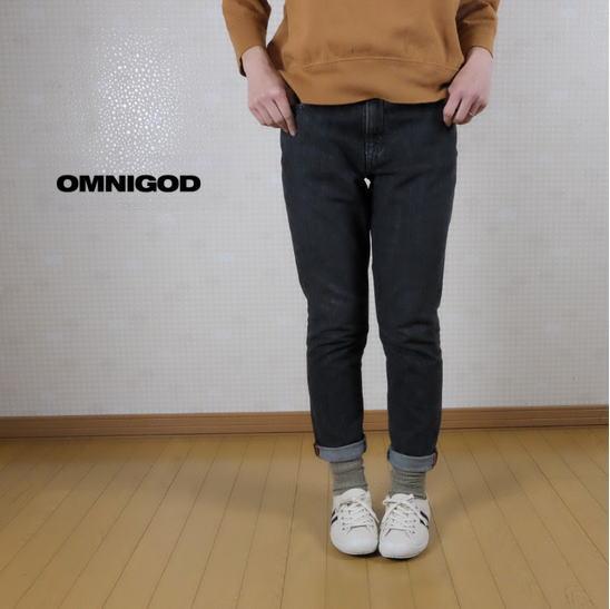 OMNIGOD(オムニゴッド)甘織りデニム 5Pテーパードジーンズ 50-579C