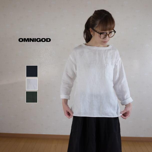 2019SS OMNIGOD(オムニゴッド)麻キャンバス プルオーバーシャツ 56-865X