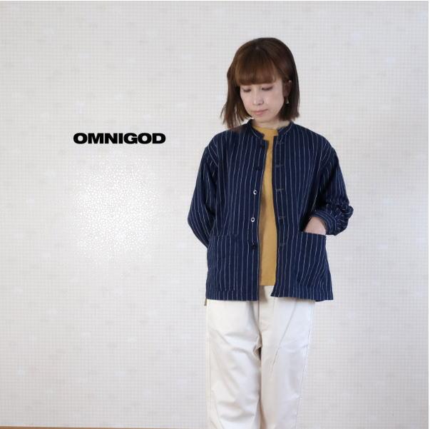 2020SS OMNIGOD(オムニゴッド)インディゴストライプ ハバナシャツジャケット 56-886X