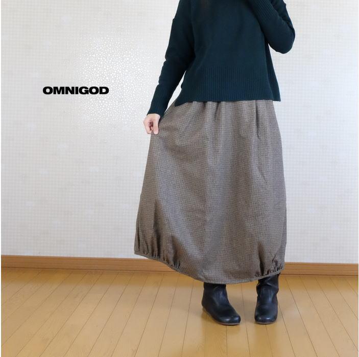 OMNIGOD 完全送料無料 オムニゴッド リサイクルウール 流行 ウォッシャブルストレッチ 57-167W バルーンスカート