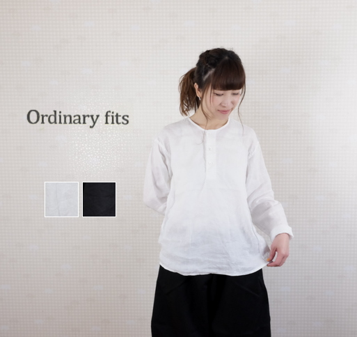 【40H限定全品P10倍!4/19(金)23:59迄】ordinary fits(オーディナリーフィッツ)リネン パジャマシャツ PAJAMA SHIRTS linen OM-S078L