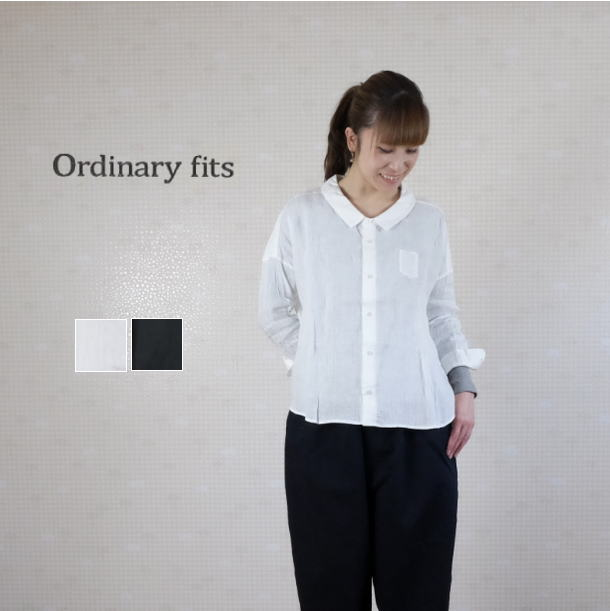 【SALE20%OFF】ordinary fits(オーディナリーフィッツ)リネン バーバーシャツ  BARBER SHIRT OF-S 009 【8712】
