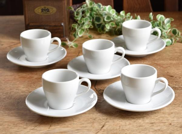 Motherskitchen | Rakuten Global Market High-quality white porcelain formal white espresso demitasse Cup u0026&; Saucer 5 set white Dinnerware & Motherskitchen | Rakuten Global Market: High-quality white porcelain ...