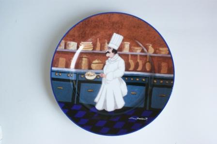ランキング総合1位 楽しいコックさん コックさんの絵皿 国内送料無料 2種 サラダ皿21cm