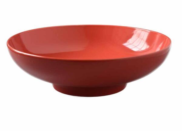 アメリカの著名なデザイナーによるデザイン ■リンドスタイメスト■ RED レッド 赤色 買収 カラー食器 33cm■ 13ボウル 大 SALE開催中 ボウル