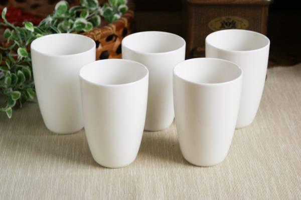 暖かみのホワイト アウトレット 送料無料 アーバンスタイル 人気ブランド ハイクオリティ 白 フリーカップ5個セット 白い陶器 ホワイト 白い器 白い食器 しろい 白い