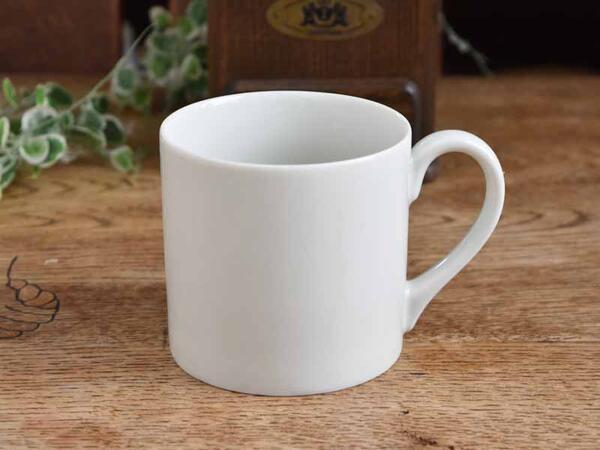 優しいアイボリーホワイト 白い食器 大きな 安定した 激安通販 割り引き マグカップ アイボリー 切立て ホワイト