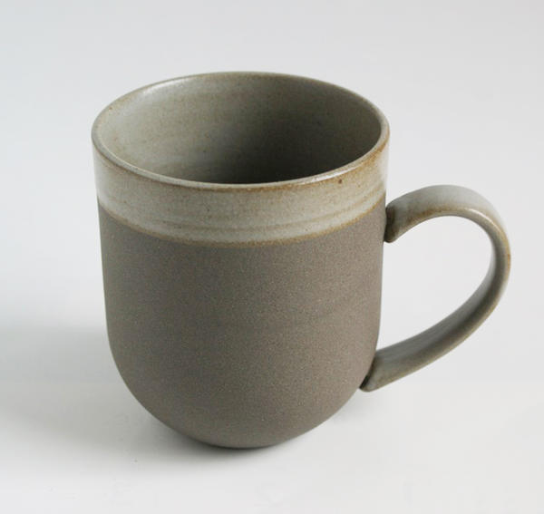 ★ unglazed earthenware Earth wear ★ Japanese taste grey color mug toll mug