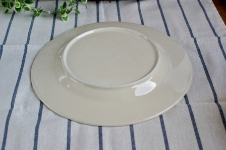 White dinner plates 27 cm natural beige heart warming dish : warming plates for dinner - pezcame.com