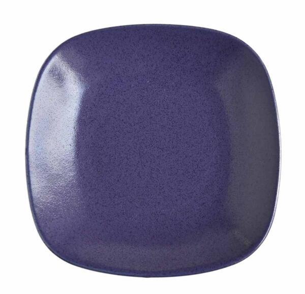 ナチュラルでスタイリッシュ ニュアンスのある青色 リンドスタイメスト 別倉庫からの配送 BLUEBERRY ブルーベリー いつでも送料無料 青色 四角 スクウェアー 16.5cm デザイナー パン皿 パンプレート 小皿